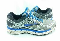 Brooks Adrenaline GTS 16 Mens SZ 9.5 D Silver Blue Running Shoes