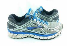 Brooks Adrenaline GTS 16 Mens SZ 9.5 D Silver Blue Running Shoes