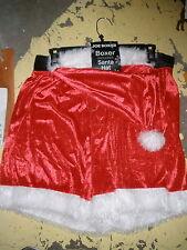 Nwt joe boxer mens boxers w/santa hat red MEDIUM