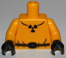 Lego Bright Light Orange Torso Safety Suit w/ Belt Radioactivity Warning Pattern