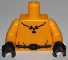 LeGo Bright Light Orange Torso Safety Suit w/ Belt Radioactivity Warning Pattern