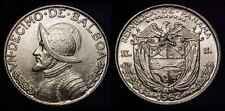 50 Coin Roll Lot Of 1961-1962 Panama Un Decimo De Balboa 1/10 oz Silver BU Coins
