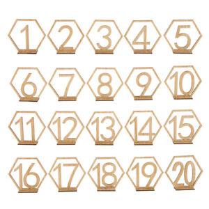 Tischnummern Set aus Holz für Hochzeit Party 1-20 Form