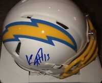 KEENAN ALLEN SIGNED AUTOGRAPHED LOS ANGELES CHARGERS SPEED MINI HELMET Beckett B