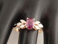 1.60 tcw Natural  AAA+ Natural No Heat Ruby & Diamond H/VS Ring 14k YG Designer