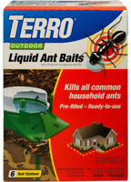 New TERRO Outdoor Liquid Ant Baits *6 Stakes* Insect Pest Bug Control T1806 NIP!