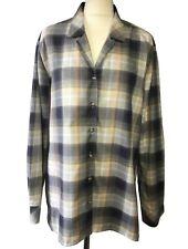 ETERNA Autumnal Long Sleeve Shirt Button Up Top Blouse Check Plaid Blogger 16 18