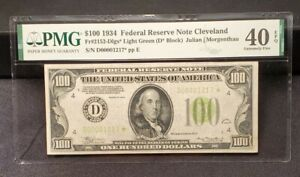 1934 $100 *STAR FRN FEDERAL RESERVE NOTE CLEVELAND, OH FR. 2152-Dlgs* PMG 40 EPQ