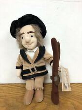 "AMERICAN Explorer Daniel Boone 10"" Plush With Plush Rifle and Hat. New With Tags"