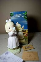Precious Moments Sharing a Gift of Love 1991 Porcelain Figure w/ Box 527114