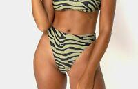 MOTEL ROCKS Sikila Bikini Bottom in Khaki Tiger   (MR41)