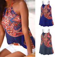 Womens Summer Strappy Vest Top Sleeveless Shirt Blouse Casual Tank Tops Vest New