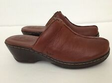 New With Box Women's BORN Clog Mule Slide Size 6 Brown Genuine Leather Shoes