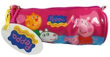 Peppa Pig George und Freunde rosa gelb und blau Schule Fass Federmäppchen NEU