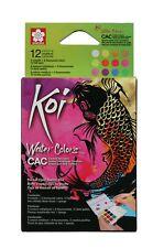 Sakura Koi Watercolour Paint Pocket Box Set of 12 Metallic & Fluorescent Colours