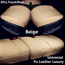 3x Car Seat Covers Mat Pad Full Set-Driver&Passenger Bottom+Rear Row Of Benches