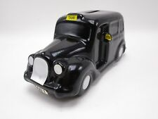 Moss Toys Taxi Cab Van Wagon Coin Bank Black Ceramic