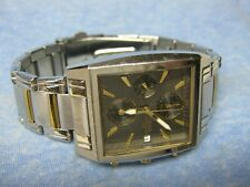 Men's PULSAR Water Resistant Chronograph Watch w/ New Battery