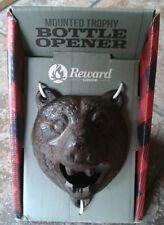 Monté Trophée Grizzly Bear Cast Décapsuleur récompense Lodge nouveau