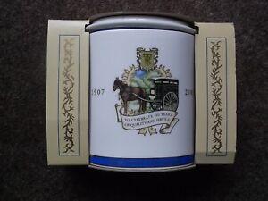 Ringtons Tea Caddy 1907-2007 100th Anniversary Centenary Blue and White
