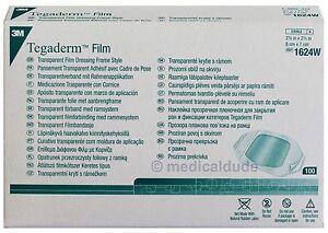 "100 Tegaderm Transparent Film Dressing 1624W 2.375"" x 2.75"" by 3M"