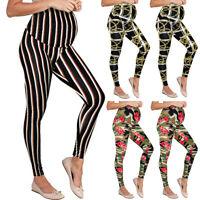 US S-3XL Women Maternity Leggings Print Seamless Pants Pregnancy Long Trousers