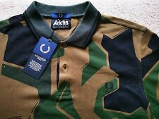 NWT Fred Perry Arktis Pique Camo Polo L Woodland Camo