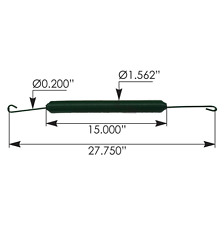 Peterbilt Hood Spring, Green, 386, 388 MODELS