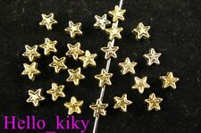 500 Antiqued gold plt star spacer beads 4mm A218