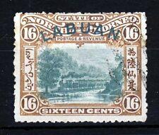 LABUAN 1902 16c. Green & Chestnut GREEN OVERPRINT SG 116 VFU CDS