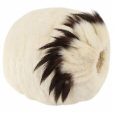Edwardian Victorian Winter White Genuine Fur Tail Hand Warmer Muff Early 1900's
