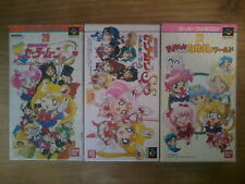 Lot SAILOR MOON - S PUZZLE / FUWA PANIC / WORLD - Super Famicom SNES - Nintendo