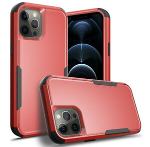 iPhone 12 Pro Max 6 7 8 11 Plus XS XR X Hard Shockproof Case Rugged RED Cover