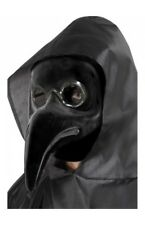 Authentic Plague Doctor Mask Black Adult Mens Halloween Fancy Dress Accessory