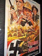 7 HOMMES POUR TOBROUK    !  robert hossein  affiche cinema  1969