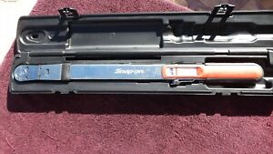 """SNAP-ON *EXCELLENT!* 1/2"""" DRIVE TQR250E """"NEW-STYLE"""" TORQUE WRENCH!"""