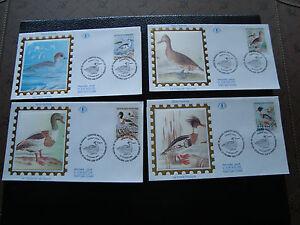 France - 4 Envelopes 1er Day 6/2/1993 (Ducks) (cy21) French