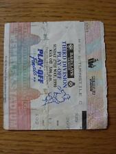27/05/1990 BIGLIETTO: play-off Finale Divisione 3-Notts County V Tranmere Rovers [A