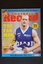 1997 North Melbourne vs West Coast 1st semi- final football record UNUSED footy