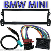 Set Marco Empotrado ++ Adaptador Para BMW Mini One Cooper Radioblende Hasta 2003