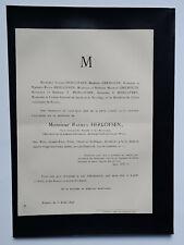 RASMUS HERLOFSEN Gremouin FAIRE PART Rouen 1896