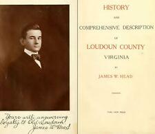 1908 LOUDOUN County, Virginia VA, History & Genealogy Family Tree DVD CD B49
