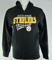 Pittsburgh Steelers NFL Team Apparel Girl's Black Full-Zip Hoodie