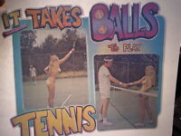 IT TAKES BALLS TO PLAY TENNIS 1970's VINTAGE AMERICANA IRON ON TRANSFER B-5