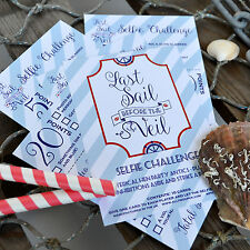 10 x LAST SAIL BEFORE THE VEIL SELFIE CHALLENGE CARDS - Nautical Hen Party Game