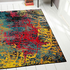 "Contemporary Lines 2x3 Area Rug Multi-Color Abstract Carpet - Actual 5'2"" x 7'2"""