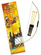 Kids Bow And Arrow Play Set Toy Plastic Archery Cowboys Outdoor Garden Fun Game