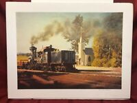 """""""Train at ELBE"""" by William Arthur Phillips 1982 Signed"""
