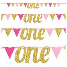 Twinkle Little Star Pink-Letter One Pennant Bannière-Baby Shower Fête