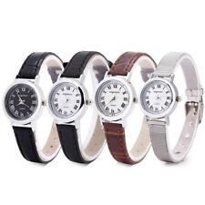 Luxury Women Wrist Watch Small Stainless Steel PU Strap Quartz Analog Wristwatch